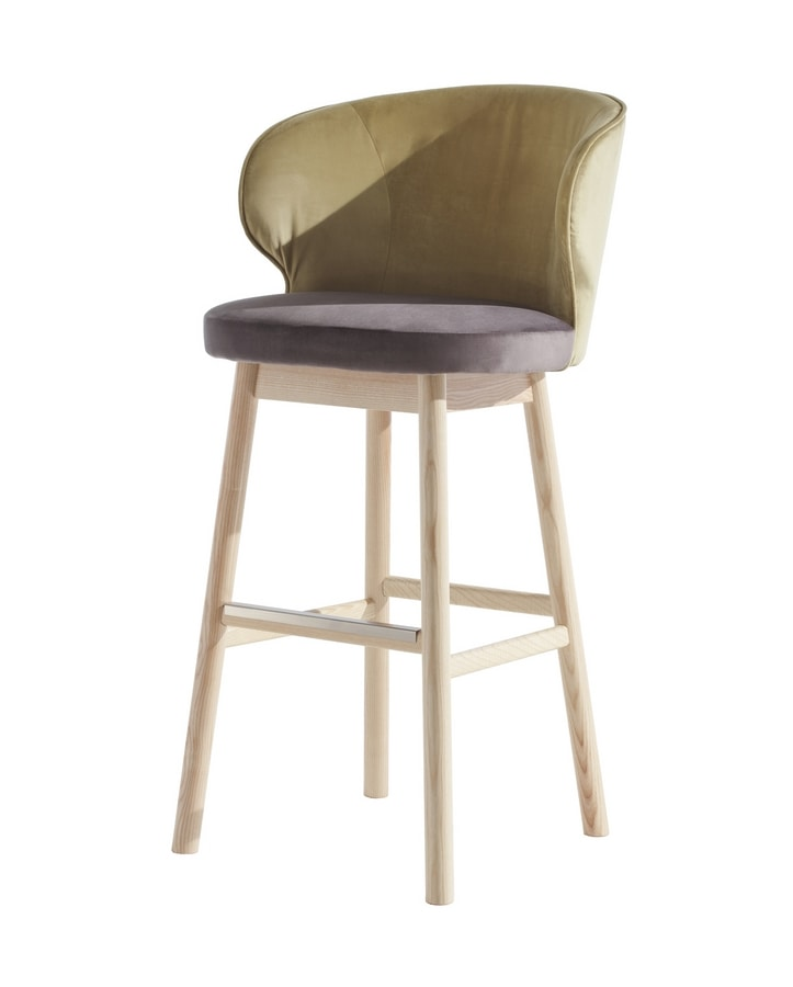 STOCCOLMA SG, Stool with enveloping backrest