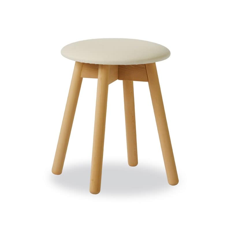 Stool Tokyo, Round stool for piano, in beechwood