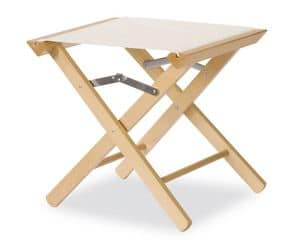 Stool P, Low stool, in durable wood, polyvalent