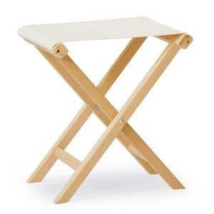 Stool PL, Folding low stool also suitable for outdoor use