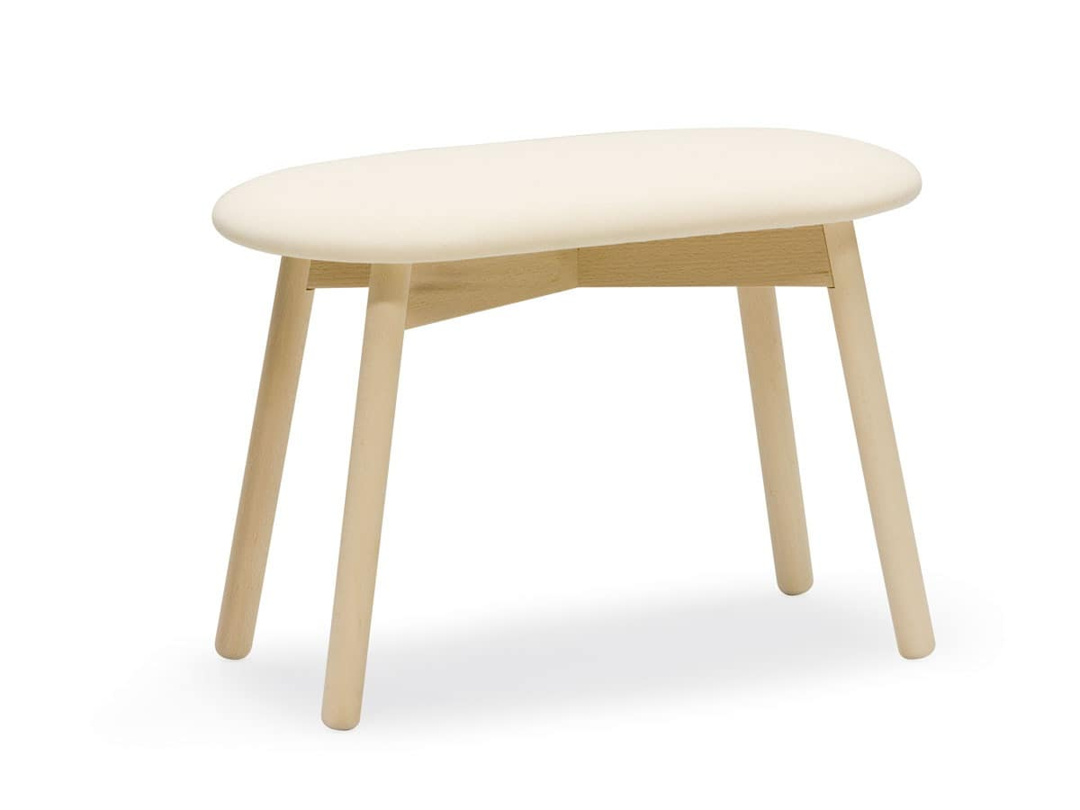 Stool Twin, 2seater stool with padded seat