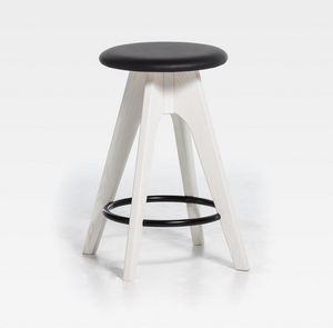 Tommy H61 H76, Stool in wood with upholstered seat