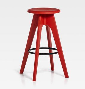 Tommy H61 H76, Stool in wood with round seat