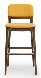 Tosca stool, Padded stool, with backrest available in 3 versions