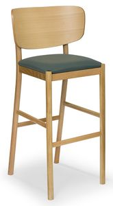 Viky stool, Wooden stool with curved back