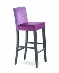 Wiky/SG, Upholstered stool for hotel