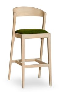 Zanna stool, Modern barstool in wood