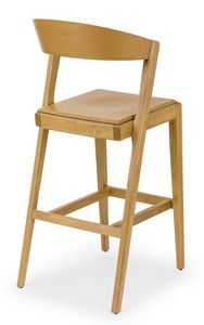 Zanna wood stool, Wooden stool for taverns and bars