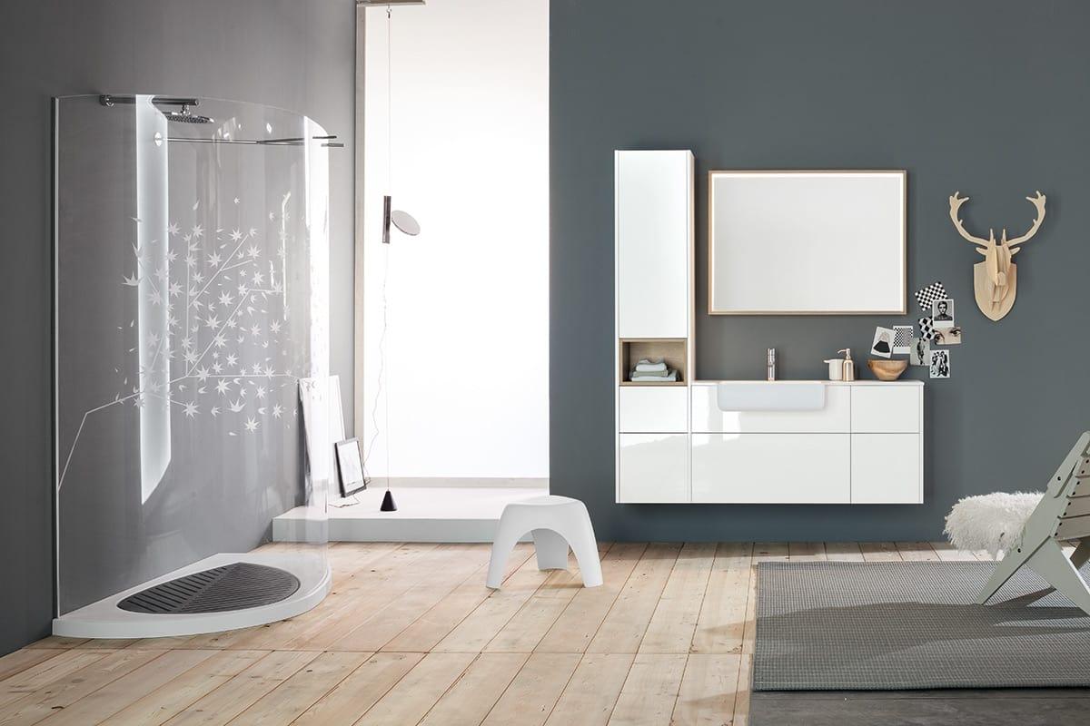 Modular Bathroom Cabinet With Storage Compartment IDFdesign - Bathroom compartment