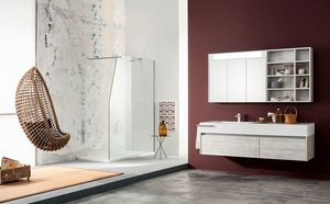 Kami comp.14, Bathroom cabinet with large drawers and mirror