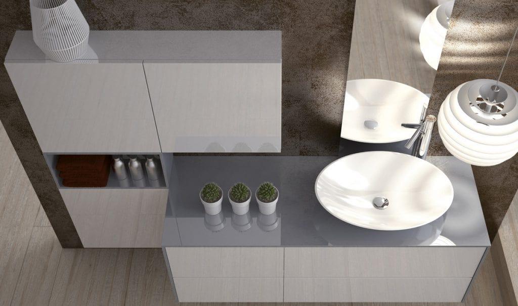 Torana TR 025, Bathroom storage cabinets, with sink