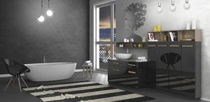 Torana TR 031, Glossy black bathroom cabinet