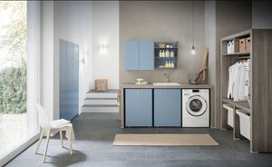 Lime Wash comp.01, Modular furniture for laundry room
