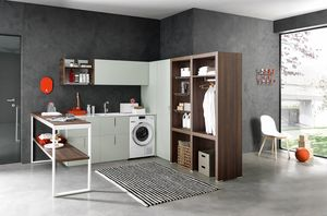 Lime Wash comp.06, Corner furniture for laundry, fully equipped