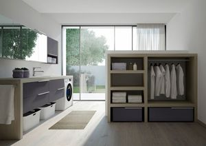 Spazio Time comp.05, Modular laundry furniture, customizable