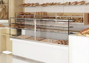 Revolution - counter with display case for bakery, Bakery counter with display cabinet