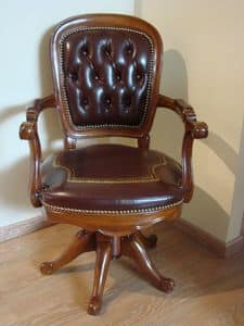 Art. 275, Swivel chair for offices, tufted leather