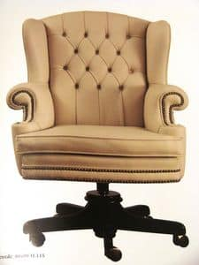 Art. 281, Leather office chair, swivel, for office