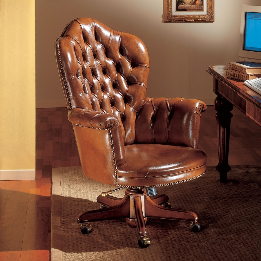 BAIDEN, Presidential office armchair in leather