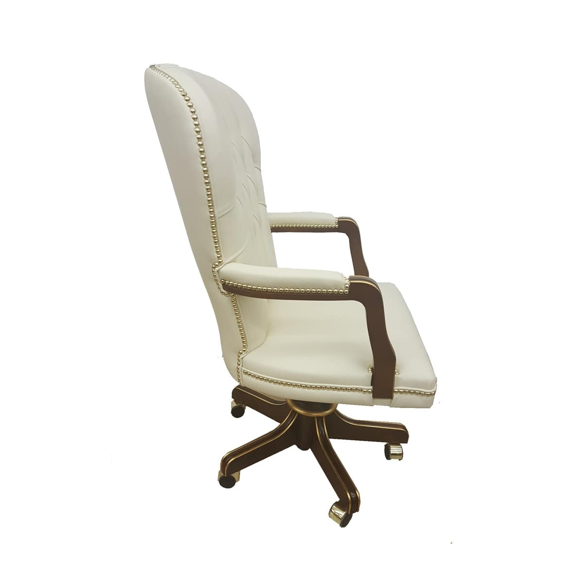 Bonnie, Office armchair, back buttoned, classic style