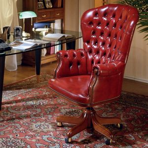 CLINTON, Tufted armchair for presidential office