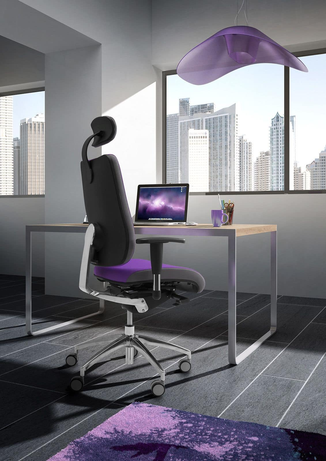 DD Dinamica high executive 53702, Office chair on castors, with headrest