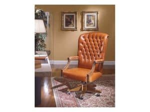Fiore Bis, Classic style office chairs for luxury office