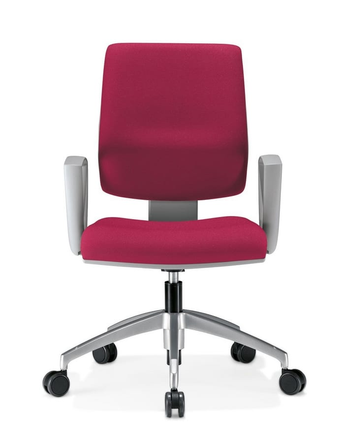 Kubix, Task chair with armrests and wheels, backrest tilt