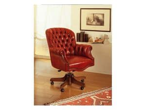 Lord, Luxury office chair, swivel, with tufted decoration