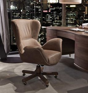 Monteverdi revolving armchair, Elegant swivel armchair for office