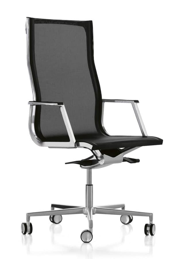 Nulite 24000, Directional chair with a mesh back for Office