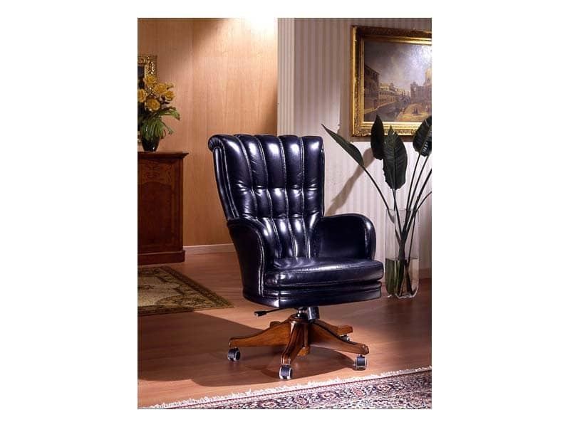 Praga, Office chair with castors, luxurious, for Hotel reception