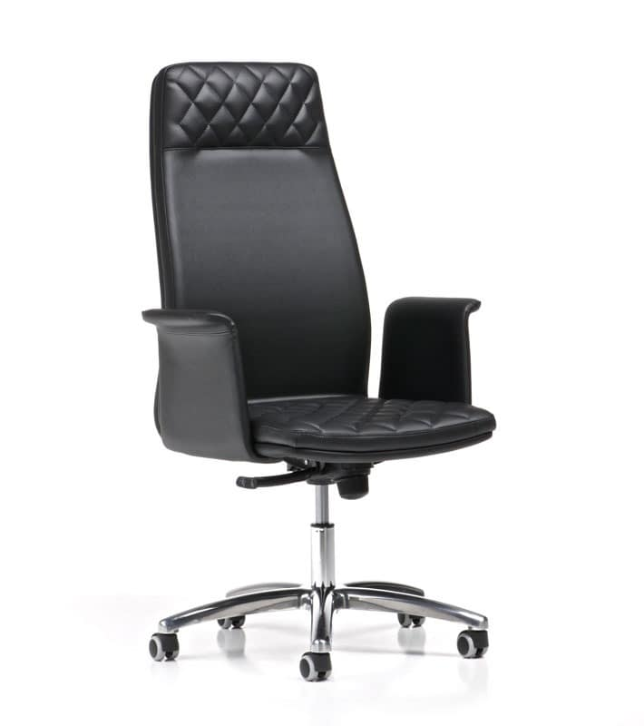 Queen Executive Chairs With Armrests And Wheels High Back