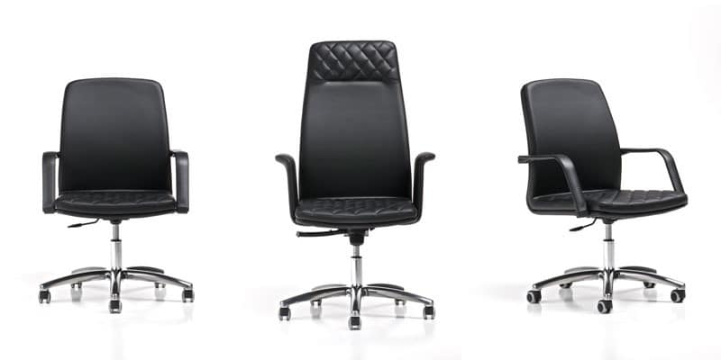 Queen, Executive chairs with armrests and wheels, high back