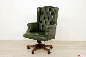 Sofia, Classic executive armchair with swivel for the office