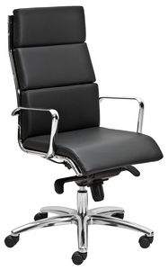 Teknik-C tall, Presidential armchair with leather cushions