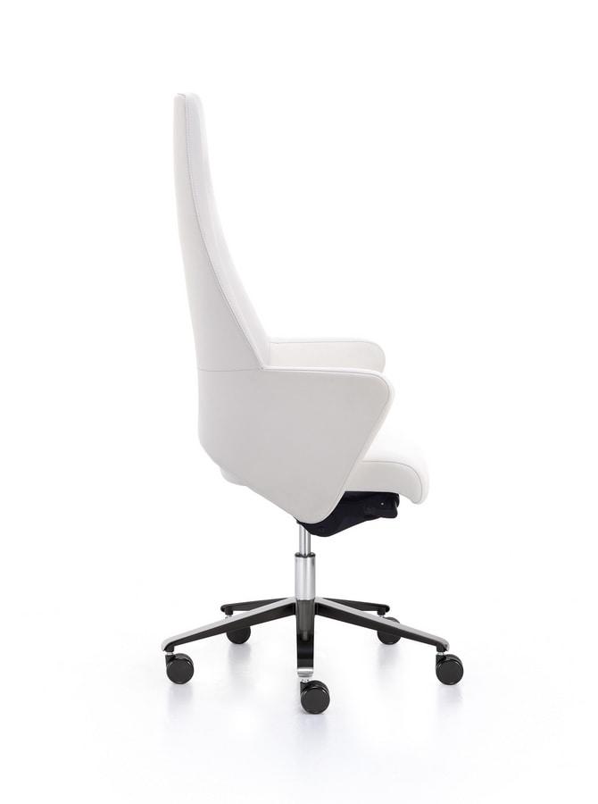 Wrap Plus 01, Executive armchair with high backrest
