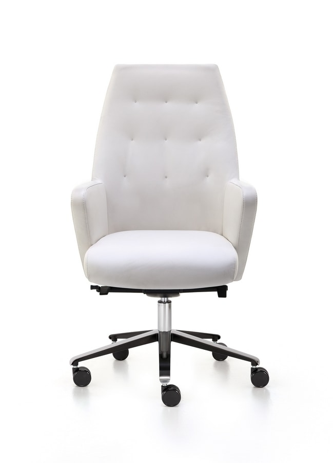 Wrap Plus 02, Executive office chair, in leather or fabric