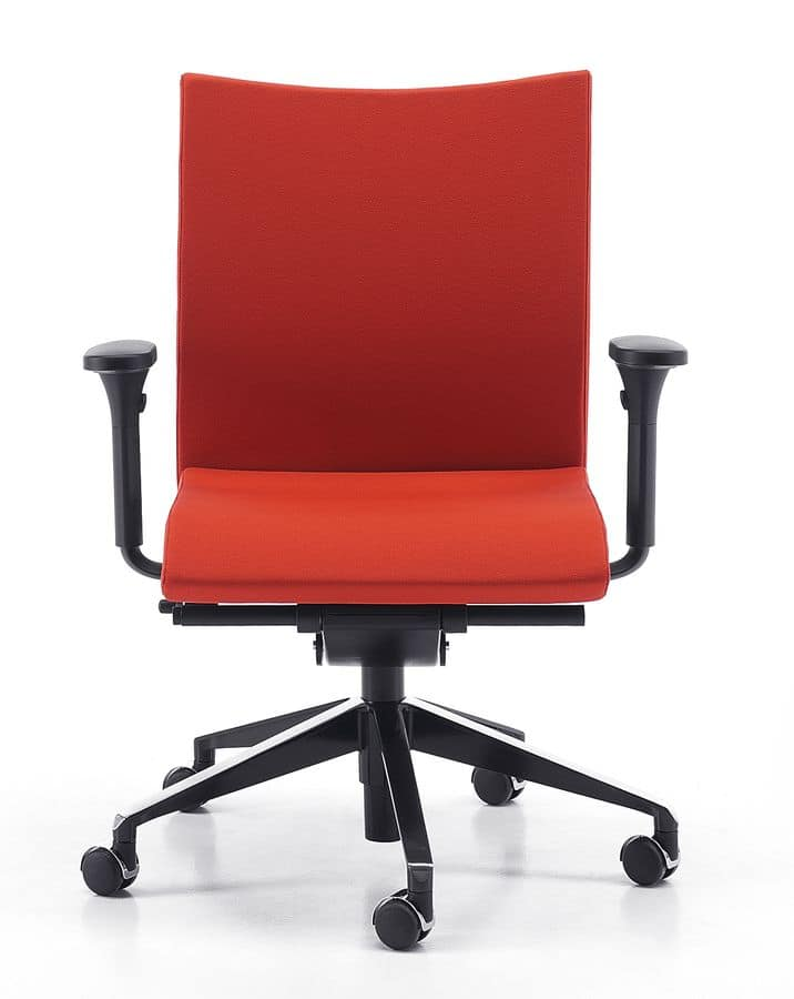 AVIAMID 3506, Task chair with wheels, adjustable lumbar support