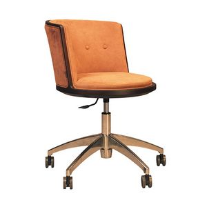 Carambola 5198/F, Chair on castors, with rounded shapes