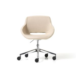 Clea Plus gas, Swivel armchair on castors, for home office