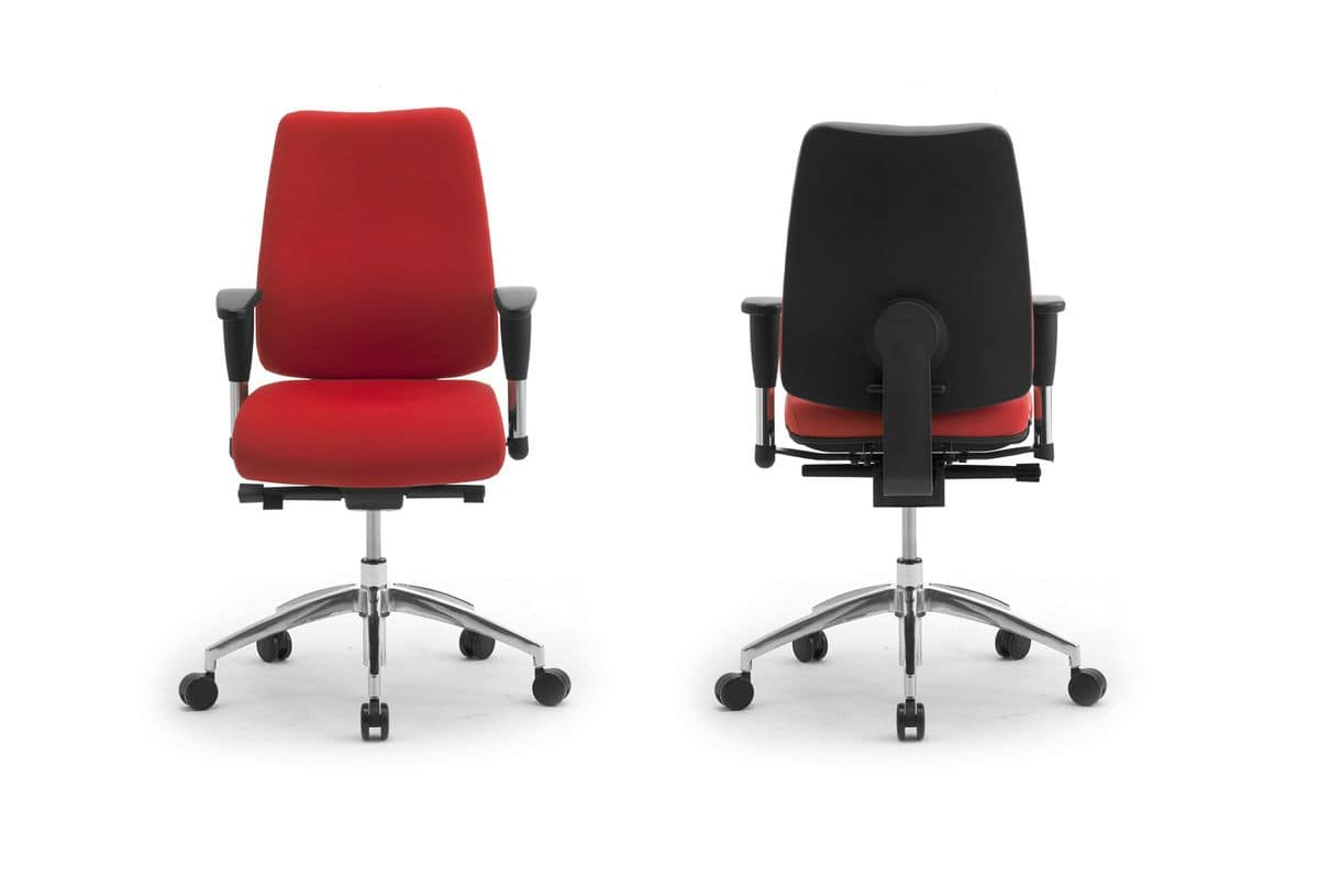 DD 2 task 53722, Operational office chair, upholstered seat and backrest