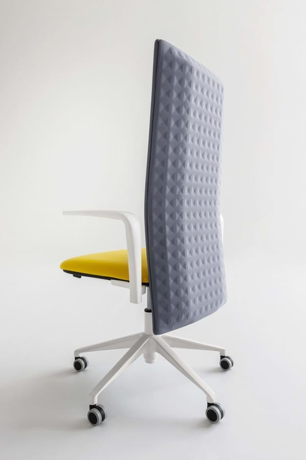 Elodie Executive 05R, Office chair with wheels and sound-absorbing backrest