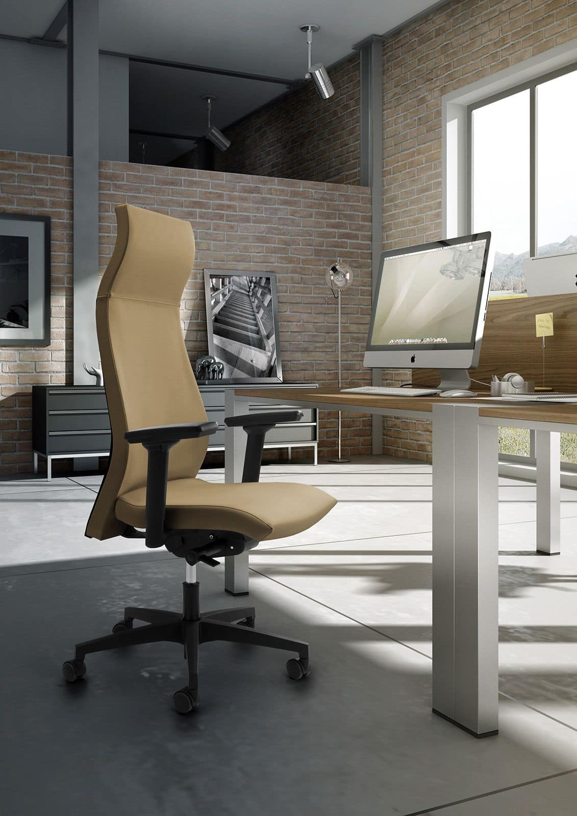 Energy 80012N, Office chair with tall backrest and headrest