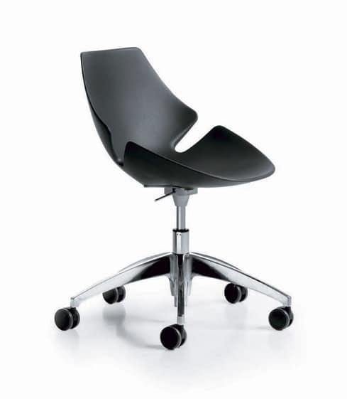 Eon gas, Height-adjustable chair, rigid polyurethane shell