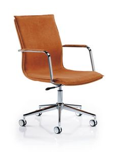 Etienne 7701, Office chair with 5-star swivel base in chromed steel