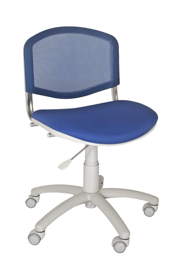 Friend, Chair for kid bedroom or home office, with mesh backrest