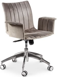Ginevra office chair, Swivel office chair, with ergonomic seat