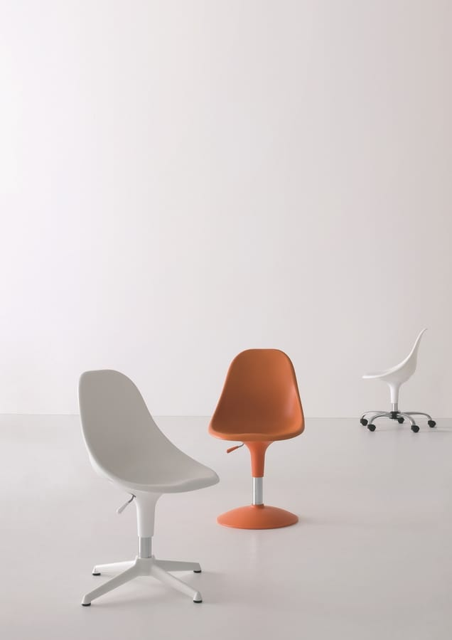 Harmony BC, Chair with wheels, in various colors, for office