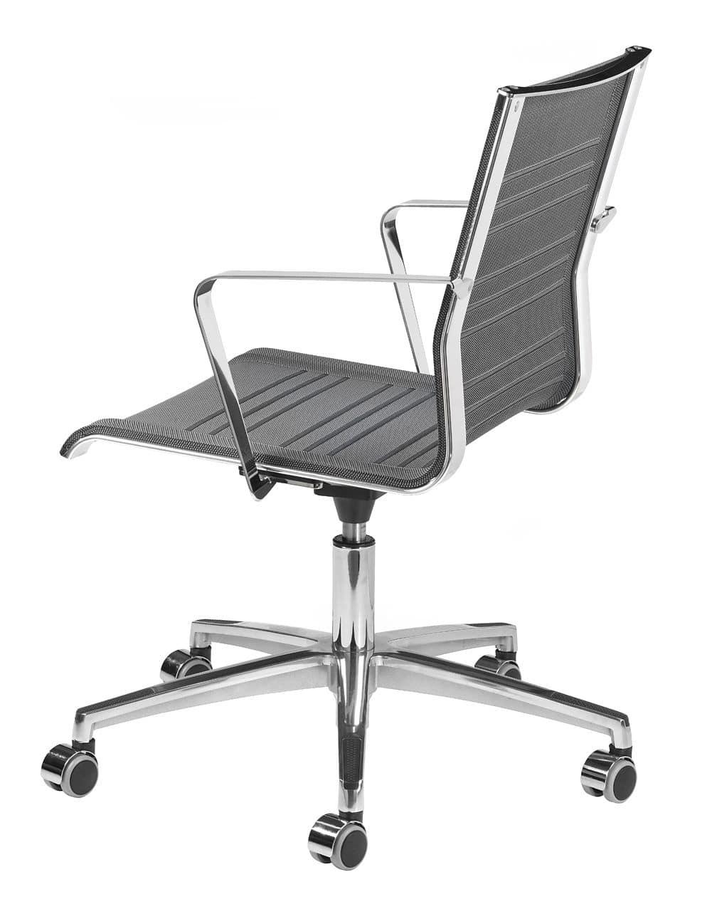 KEYPLUS 3152, Task chair with wheels, chromed metal frame